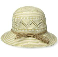 New with Tag - $100.00 Giovannio Cloche Khaki/Ivory 100% Paper Hat Size 1SFM