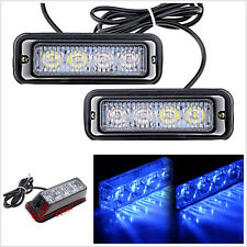 2pcs 4LED Car SUV 4x4 Universal Emergency Warning Hazard Flash Strobe Light Blue
