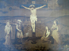 "Antique Murphy and McCarthy 1908 Litho on Tin ""The Crucifixion"" Incredible!"