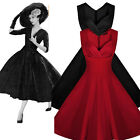 Vintage Retro Rockabilly Swing 50's Housewife Cocktail Evening Dress UK 10-18