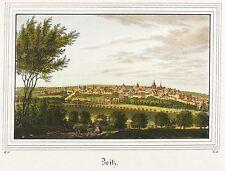 ZEITZ - GESAMTANSICHT - Saxonia - kolorierter Stahlstich 1836