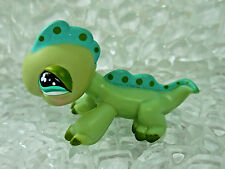 LPS 499 Green Spotted Iguana Gecko Lizard Aqua Green Eyes Littlest Pet Shop