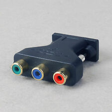 RCA YUV YPbPr Video To VGA Style D-sub HD 15-Pin Video Adapter For Video Card