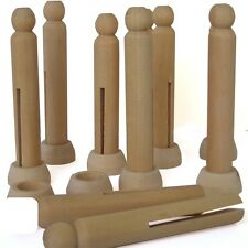 Dolly Pegs With Stands Wooden Crafts Pack Of 10