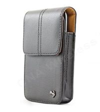 Black Vertical Leather Pouch Case Belt Clip Holster for Samsung Galaxy S5 S4 S3