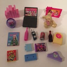 Barbie Replacement Bedroom Accessories Laptop, Fish Bowl, Clocks for Diorama