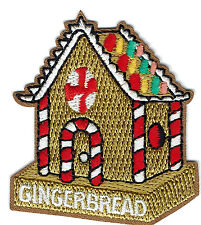 Girl Boy Cub GINGERBREAD HOUSE Fun Patches Crests Badges SCOUT GUIDE making day