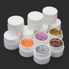 36 Colors Glitter Nail Art Tips Design UV Gel Polish Builder Set Manicure Kits