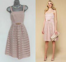 MONSOON Nude Soft Peach LILY Embellished Waist Party Cocktail Dress UK 12 £169