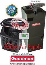 3 ton 14 SEER 410a Goodman A/C System GSX140361+ARUF37C14+25ft LineSet+HeatStrip
