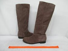 Nine West Vintage America Collection Grayish Brown Suede Leather Boots Size 7 M
