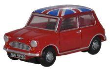 Red Austin Mini  Union Jack top N gauge UK 1/148 Oxford Die-cast NMN001