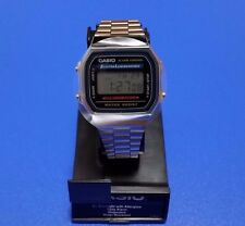 New CASIO Watch A168WA-1 Water Resist Men\'s Stopwatch From Japan F/S