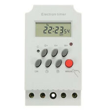 7 Day 12/24 Hour 220V 25A Digital Programmable Timer LCD Plug-in Socket Switch