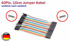 40Pin 10cm Jumper Kabel, Verbindungskabel Pinkabel für Arduino Raspberry Pi w-w