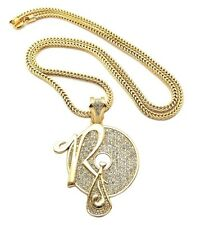 """NEW ICED OUT ROCAFELLA HIP HOP PENDANT & 4mm/36"""" FRANCO CHAIN NECKLACE - XP888"""