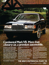 1984 Lincoln Mark VII coupe -  Classic Vintage Advertisement Car Ad J15