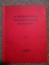 1952 Outline of Music in History Elsie D Berl  Personal Filed Copy 1st Edition