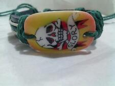 Ed Hardy Style Leather Hemp Adjustable Length Bracelet - Free Shipping !