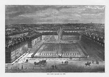 LONDON Red Lion Square in 1780 - Antique Print 1892