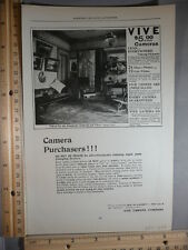 Rare Original VTG 1898 Vive Camera, Steinway & Sons Pianos Advertising Art Print
