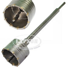 90mm Wall Drill Bit Hole Saw with SDS+ Shaft for Masonry Concrete Brick Stone US