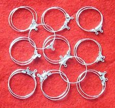 20 SP hoops, 25mm, for earrings, findings for jewellery, wine glass charms etc
