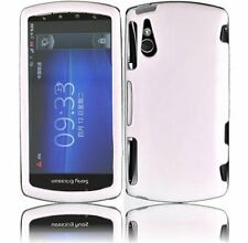 For Sony Ericsson R800i Xperia Play White Snap-on Rubber Hard Cover Case NEW