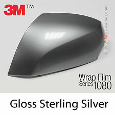 10x20cm FILM Gloss Sterling Silver 3M 1080 G251 Vinyle COVERING Car Wrapping