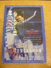07/08/1995 Birmingham City v Manchester United [amigable] (leve Trus arrugada).