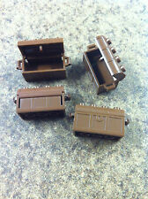 x4 Brown PiratesTreasure Chests  , Lego Bulk lot