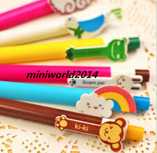 6PCS Cartoon Korean Stationery Colorful Rainbow Ball Point Pen-0.5mm,Blue  Ink
