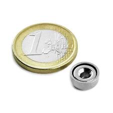 Super Magnete al Neodimio CSN-10 POTENZA 1,3 Kg FORO SVASATO + BASE IN ACCIAIO