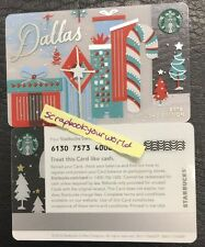 Starbucks Gift Card DALLAS Holiday City Card 2016 Holiday Special Edition MINT