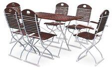 Biergartengarnitur 1x Tisch 120x70 cm + 4x Stühle + 2x Sessel
