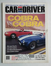 CAR & DRIVER Magazine VINTAGE AUTOMOBILE 1996 JULY MUSTANG COBRA SHELBY CLONE