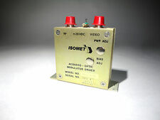 ISOMET ACOUSTO OPTIC MODULATOR DRIVER, NEW Model 231B-1-45 LASER