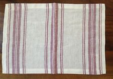 Williams Sonoma French Stripe Place Mats Red Cream Linen Cotton Set of 4 NEW