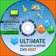 * Recovery & Repair reparación CD DVD para Windows 10 + 8 +7 + vista + XP 2016 2017