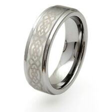 Mens Solid 8mm Celtic Tungsten Carbide Ring Jewellery