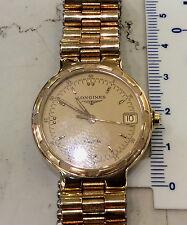 Longines Conquest donna orologio quarzo nuovo laminato oro anni 80 acciaio mm 29