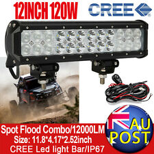 12inch 120W CREE Spot Flood Combo Roof LED Work Light Bar Car ATV UTE Lamp 240W