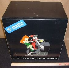 HARLEY QUINN POISON IVY BATMAN ANIMATED COOKIE JAR DC Warner WB Store Statue MIB