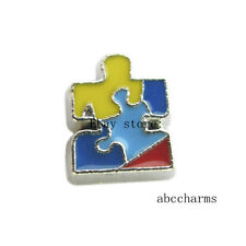 New 10pcs Autism awareness Floating charms For Glass living Locket FC154
