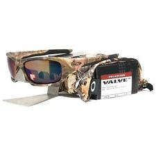 Oakley OO 9236-13 POLARIZED VALVE Woodland Camo Shallow Blue Iridium Sunglasses