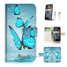 HTC Desire 510 Flip Wallet Case Cover! P0225 Butterfly