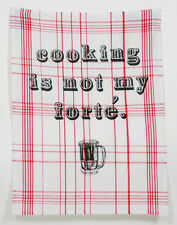 Retro Geschirrtuch Motiv - Cooking is not my forté Rockabilly