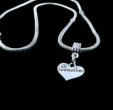 Godmother Necklace God mum godmom charm chain necklace God mother best gift
