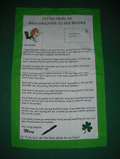 LETTER FROM AN IRISH DAUGHTER TO HER MOTHER TEA TOWEL