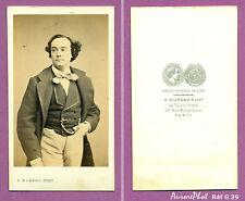 CDV ACHILLE MONTAUBRY ARTISTE LYRIQUE TÉNOR OPÉRA-COMIQUE CIRCA 1860 Réf G 39